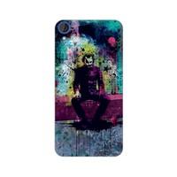 Bordo Htc Desire 828 Kapak Kılıf Renkli Joker Baskılı Silikon