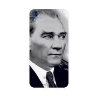 Bordo Htc Desire 728 Kapak Atatürk Kılıf Baskılı Silikon