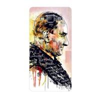 Bordo Samsung Galaxy A7 Kapak Kılıf Atatürk Baskılı Silikon