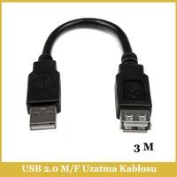 Ti-mesh USB 2.0 A M / USB A F Kablo - 3M