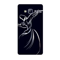 Bordo Samsung Galaxy E5 Kapak Kılıf Semazen Mevlana Baskılı Silikon