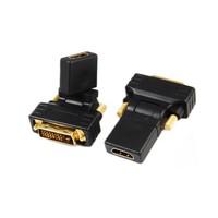 Ti-mesh DVI(24+1)Male to HDMI Female Dönüştürücü 270° Dönen