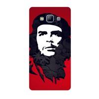 Bordo Samsung Galaxy E5 Kapak Kılıf Che Guevara Baskılı Silikon