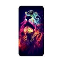 Bordo Samsung Galaxy E5 Kapak Kılıf Renkli Kaplan Baskılı Silikon