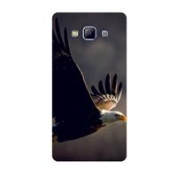 Bordo Samsung Galaxy E7 Kapak Kılıf Kartal Baskılı Silikon