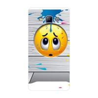 Bordo Samsung Galaxy E7 Kapak Kılıf Emoji Baskılı Silikon