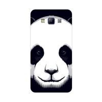 Bordo Samsung Galaxy E7 Kapak Kılıf Panda Baskılı Silikon