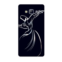 Bordo Samsung Galaxy Grand Max Kapak Kılıf Semazen Mevlana Baskılı Silikon