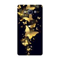 Bordo Samsung Galaxy S3 Kapak Kılıf Kelebek Baskılı Silikon