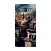 Bordo Samsung Galaxy A3 Kapak Kılıf Manza Baskılı Silikon
