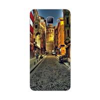 Bordo Samsung Galaxy A3 Kapak Kılıf İstanbul Galata Kulesi Baskılı Silikon