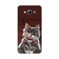Bordo Samsung Galaxy A3 Kapak Kılıf Kedicik Baskılı Silikon