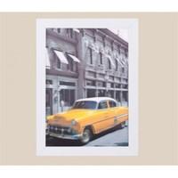 BuldumBuldum Çerçeveli 3D Tablolar - Sarı Cadillac