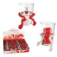 BuldumBuldum Love Candle İn Glass - Aşk Mumu - Kalpli