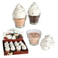 BuldumBuldum Cappuccino Candle - Kahve Aromalı Mumlar - Kahve (Koyu Kahverengi)