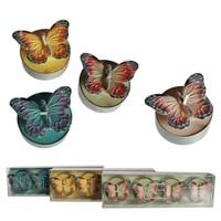 BuldumBuldum Butterfly Tealight - Kelebek Mumlar - Kırmızı