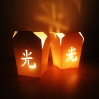 BuldumBuldum Take Away Style Candle Bag - Al Götür Mum Kutusu Seti