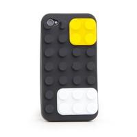 BuldumBuldum Colour Block İphone 4 Case - Renkli Oyun Küpleri İphone 4 Kılıfı - Sarı