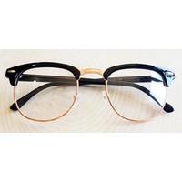 Köstebek Siyah Saplı Gold Çerçeveli Gözlük Kgz072