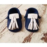 Kız ve Erkek Bebek - Çocuk Deri Makosen Ayakkabı