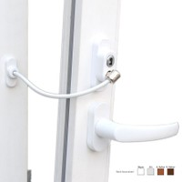 Prado Anahtarlı Pvc Pencere Emniyet Kilidi (5 Adet) - Beyaz