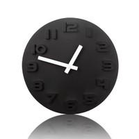 BuldumBuldum Black & White Wall Clock - Siyah & Beyaz Duvar Saati - Beyaz