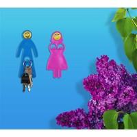 BuldumBuldum Mr. And Mrs. Lover'S, Smiley Serisi - Eğlenceli Askılar - Pembe Kadın, Pembe Erkek (218)