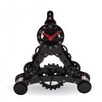 BuldumBuldum Eiffel Tower Gear Clock - Eyfel Kulesi Metal Dişli Masa Saati - Küçük