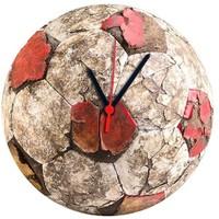 BuldumBuldum Carla Mara Futbol Topu Cam Duvar Saati - Eski Top