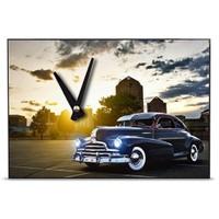 BuldumBuldum Tasarım Ahşap Duvar Saatleri 21X15 Cm - Chevrolet