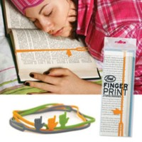 BuldumBuldum Fingerprint - El Kitap Ayracı - Gri