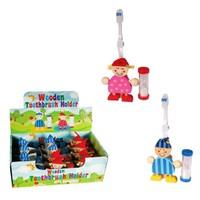 BuldumBuldum Wooden Toothbrush Holder - Ahşap Diş Fırçalık - Kız