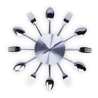 BuldumBuldum Cutlery Wall Clock - Çatal Kaşık Duvar Saati - Renkli