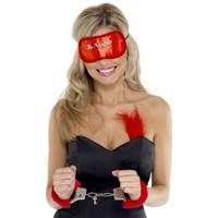 BuldumBuldum Furry Handcuffs - Kürklü Aşk Kelepçeleri - Kırmızı
