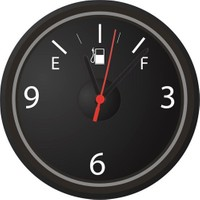 BuldumBuldum Benzin Göstergesi Tasarımlı Duvar Saati