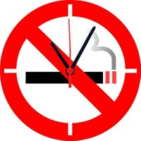 BuldumBuldum No Smoking Duvar Saati