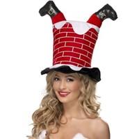 BuldumBuldum Santa Stuck In Chimney Hat - Bacadan Giren Noel Baba Şapkası