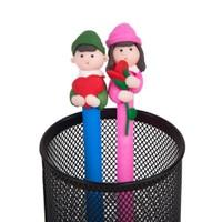 BuldumBuldum Çiftlere Özel 2Li Renkli Kalemler - Çiçekli