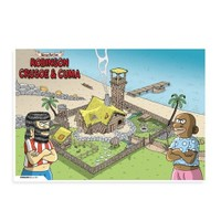 BuldumBuldum Penguen Poster – Robinson Crusoe Ve Cuma - 220 Gr Poster