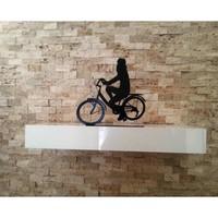 Dekoratif Metal Bisiklet Süren Kız