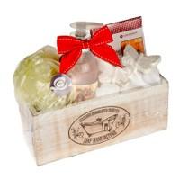 Flor De Mayo Wooden Soaps Box Hediye Seti - Kiraz