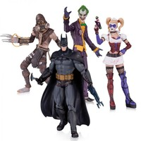 DC Collectibles Batman Arkham Asylum 4 Pack Action Figure Set