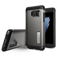 Spigen Samsung Galaxy Note 7 / FE (Fan Edition) Kılıf Tough Armor Gunmetal