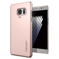 Spigen Samsung Galaxy Note 7 / FE (Fan Edition) Kılıf Thin Fit Ultra İnce Rose Gold