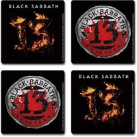 Rock Off Black Sabbath 13 Bardak Altlığı Seti