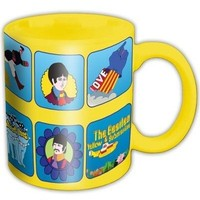 Rock Off Yellow Submarine Characters Kupa Bardak