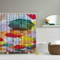 Orange Venue 3D Baskılı Duş Perdesi Şemsiye