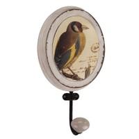 Love Letter Kahverengi Kuş Desenli Duvar Askısı