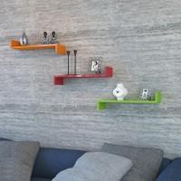 Hepsiburada Home İxia Duvar Rafı 3 Lü Turuncu Kırmızı Yeşil
