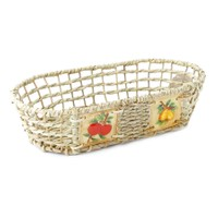 Kanca Ev Natürel Oval Sepet Meyve Orta